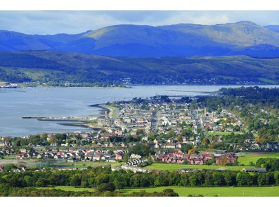 Helensburgh and the Gareloch from the Red Burn path