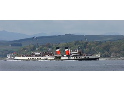 Paddle Steamer Waverley calls at Helensburgh in the summer season