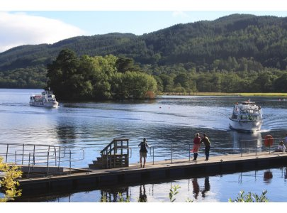 The 4.00pm ferry takes you back to Tarbet from Inveruglas